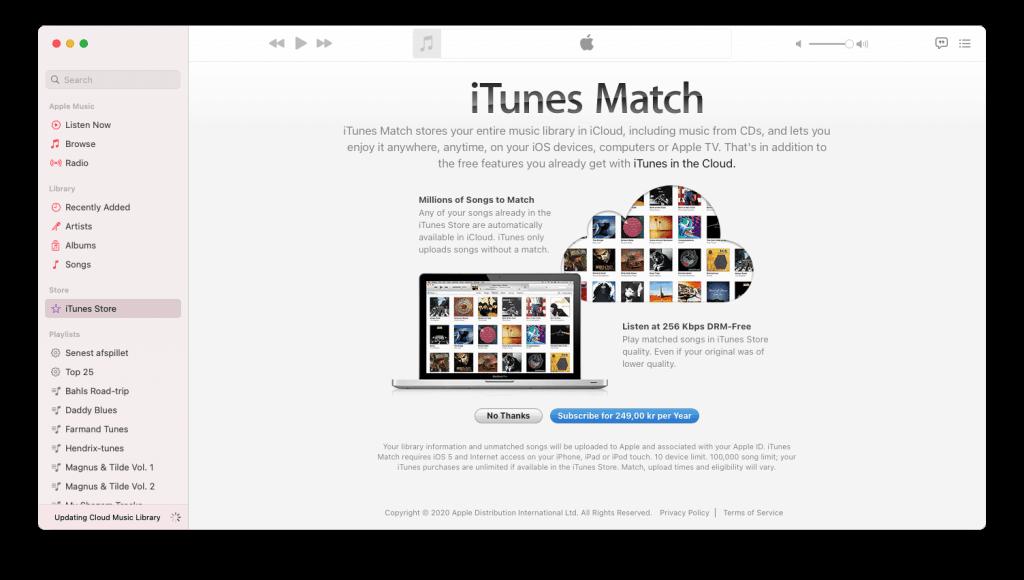 iTunes Match fra Apple